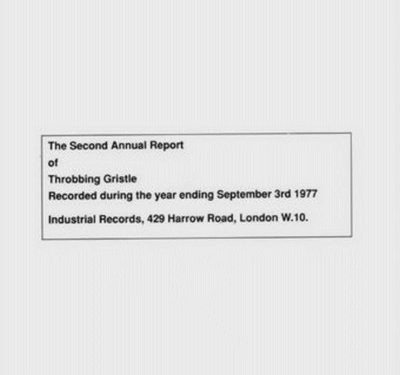 The second annual report – Throbbing Gristle